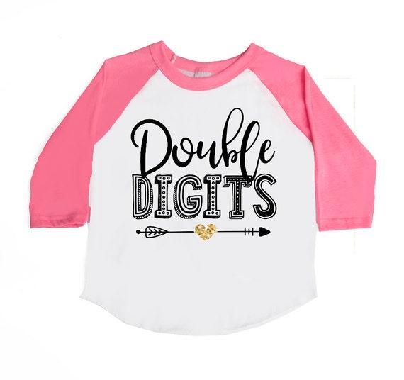 Double Digits Birthday Shirt 10th Birthday 10 Year Old