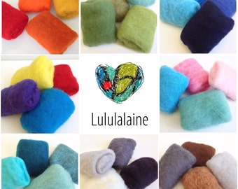 Wool for Felting, Carded Wool Batting, 2oz (56gr) Pack, Needle Felting Wool, Carded batts – Wool kit for Needle and wet felting.