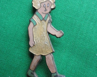 1930's Little Orphan Annie Figural Pin