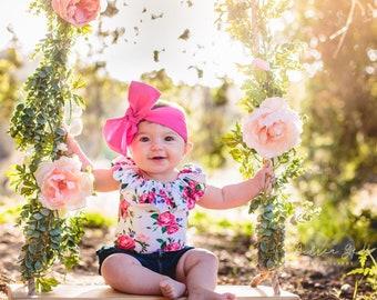MAGENTA headwrap, fabric headwrap, baby headwrap, fuchsia headwrap, hot pink headwrap, toddler headwrap, pink headband, pink headwrap