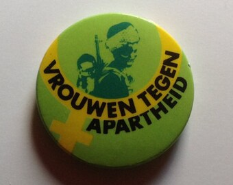 Vintage Anti Apartheid Badge