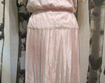 1980's Scott McClintock pink formal dress