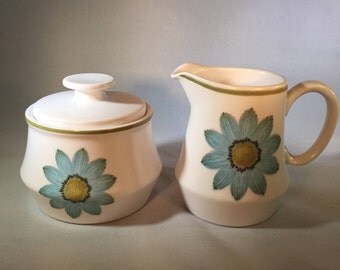 Vintage Noritake Up-Sa Daisy Cream & Sugar Set