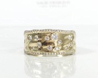 Gorgeous 0.46ct 14k Yellow Gold Diamond Lady's Ring