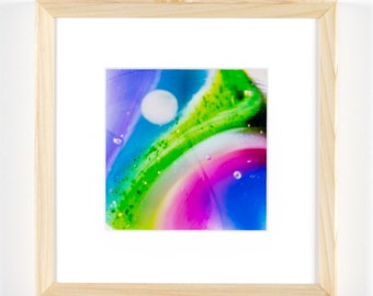 """Abstract of a Glass Marble 5""""x5"""" Framed Art Photograph (8""""x8"""" with frame)"""