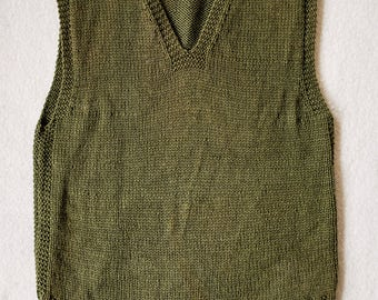 Mint WW2 1940s US Army Wool Knit Vest Sweater Pullover Olive Drab ww2 Filson LL bean Nigel Cabourn Real Mccoy Buzz Rickson Guernsey rrl lvc