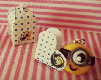 A few nice earrings of the Minions of Gru made of fimo Earrings Minion despicable me polimer clay