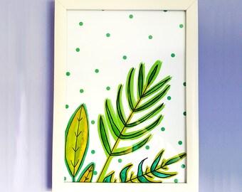 Plant Mixed Media Artwork | Watercolour | Illustration