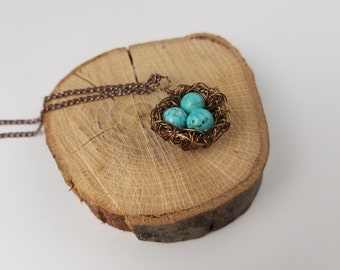 Turquoise Birds Nest-a-lace