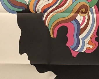 """Rare - Unhung/Unused 1970's Bob Dylan Poster - Like New Condition - By Milton Glaser - 33"""" X 22"""" - Free Shipping!"""