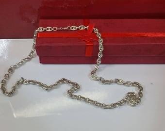 Chain Silver 925 chain shabby vintage HK102 bean chain