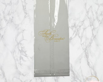 Personalized Clear Favor Bags | The Julia Wedding Collection