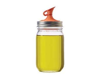Oil Cruet / Oil Dispenser Lid for Regular Mouth Mason Jars