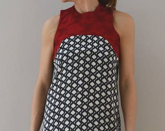 Silk Top with shaped top relief pattern - LIMITED EDITION