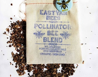 Bee Blend Wildflower seed pack w/ save the bees pin