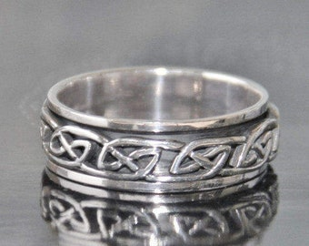 Ring ring spinning Silver 925 STERLING high quality