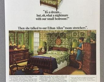 1968 Lot of 3 Ethan Allen Print Ads - Ethan Allen Custom Room Plan Furniture