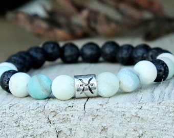 birthday gift birthday jewelry Mens beaded bracelet mens bracelet Zodiac jewelry Zodiac bracelet Horoscope jewelry reiki energy jewelry