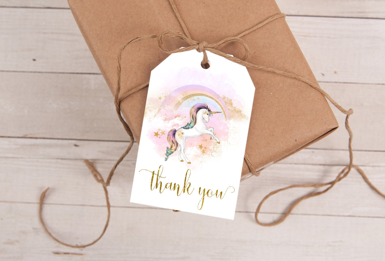 Unicorn party favor tags unicorn birthday unicorn favor tag prettylittleinvite negle Gallery