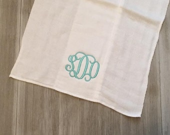 Simple Monogrammed Burp Cloth/Burp Rag