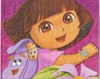 Dora the Explorer ''Flower Adventure'' Luncheon Paper Napkins 16ct