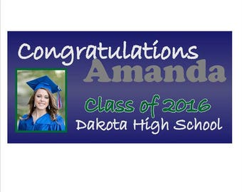 Personalized Graduation Banner ONE PHOTO