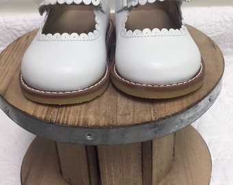 Elephantito Toddler Mary Jane White Leather Shoes