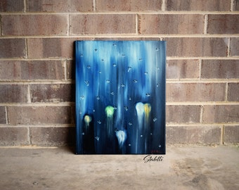 Rainy Day, Rain Painting, Canvas Painting, Original Oil Painting, Wall Art Canvas, Abstract Art, Abstract Painting, Large Canvas Art