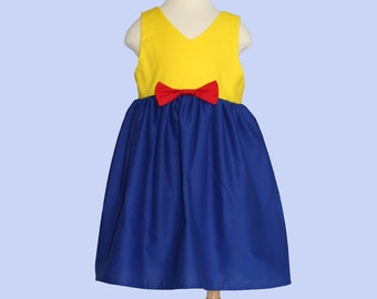 Snow White Baby Dress - Snow White Toddler Dress - Dress Up Dress - Princess Baby Dress