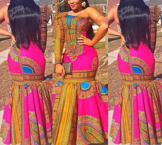 Stunning Sexy African Print Dress