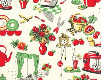 1/2 yd Fifties Kitchen by Michael Miller Fabrics CX1595