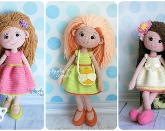 PATTERN Mirra the doll crochet pattern pdf in English