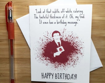 American Psycho Birthday Card, Patrick Bateman, Christian Bale, Happy Birthday Card, American Psycho Gift, Funny Birthday Card, Pop Culture