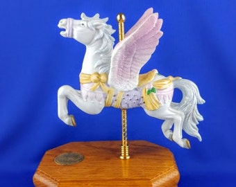 Pegasus Carousel Horse Music Box