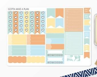Planner Stickers Easter Bouquet Functional Sheet for Erin Condren, Happy Planner, Filofax, Scrapbooking
