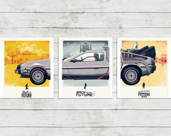 Back to the Future Trilogy Classic Film Poster Movie Poster Retro Art Prints