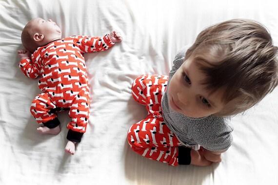 Red Rover Organic Cotton Onesie Romper Sleepsuit