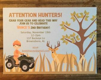 Little Hunter Birthday Invitation
