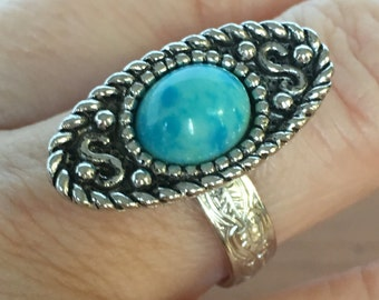 Sarah Coventry adjustable ring ethnic native american inspired jewelry
