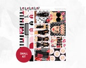 Can You Keep A Secret? Small Kit - Matte Glossy Erin Condren Planner Stickers - Pink Red Steel Gray Blue Black PLL Liars Dolls