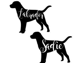 Labrador Decal Etsy - Sporting dog decals
