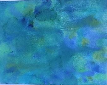 Ocean Tide Watercolor Painting