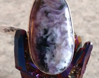 Charoite Ring, Size 7 1/2