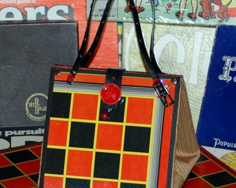 Purse made from old Checker Board