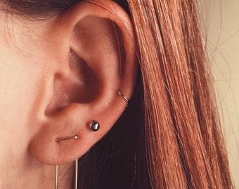 Double Piercing Earring, Double Earrings, Staple Earrings, Two Hole Earrings, Threader Earrings, Unique Double Earrings, Staple Threaders