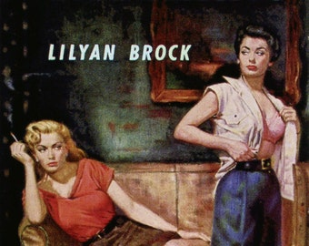 Lesbian pulp vintage art print—Queer Patterns