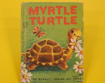 MYRTLE TURTLE   vintage 1961  Rand Mcnally Jr Elf junior Diane Sherman travels VG!!