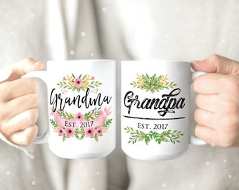 New Grandparents Mug - Grandma Mug - Grandma to be Mug - Grandpa Mug - Pregnancy Reveal - Mug for Grandma - Mug for Grandpa Grandparents Mug