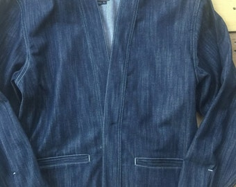 Noragi jacket 3x1 Slub indigo denim
