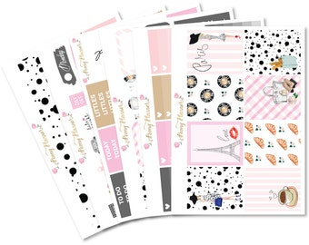 Walk in Paris Sticker Kit for use with ERIN CONDREN LIFEPLANNER™, Happy Planner, Travelers Notebook etc